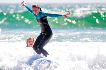 Clase particular de surf en Santa Mónica