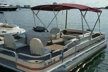 Book 19' Pontoon Boat Rental in Riviera Beach Marina on Viator