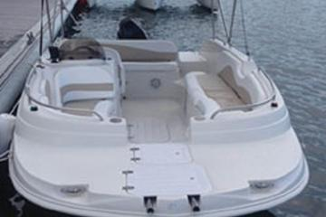 Book 21' Deck Boat Rental in Riviera Beach Marina on Viator