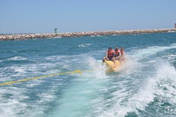 Passeio de banana boat saindo de Vilamoura