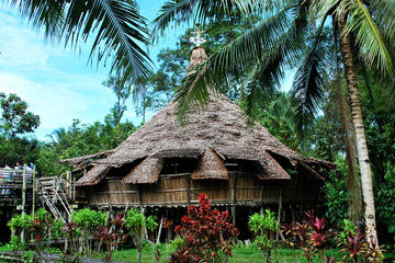 Sarawak Cultural Village from Kuching City