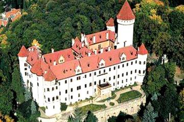 Konopiste Chateau and Nový Knín and Karlstejn Castle Private Tour from Prague