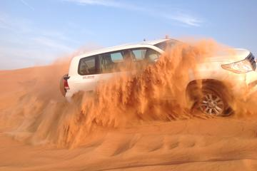 Dubai Desert Safari by Camel and 4x4 Jeep with BBQ Dinner with Live...