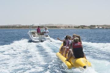 Hurghada Utopia Island by Glass Bottom Boat enjoy Snorkeling and Banana Boat
