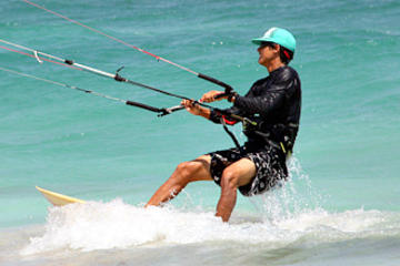 Clases en grupo de kiteboarding en Tulum