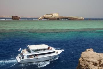 Insel Tiran mit dem Boot von Dahab