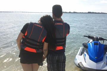 1-hour Dolphin and Shell Island Jet Ski Tour
