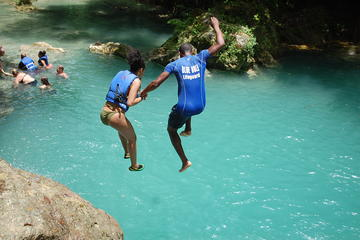 Blue Hole plus Secret Falls and Dunns River Falls Combo from Falmouth Hotels