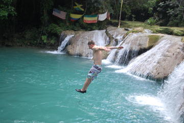 Blue Hole plus Secret Falls and Dunns River Falls Combo from Runaway Bay Hotels
