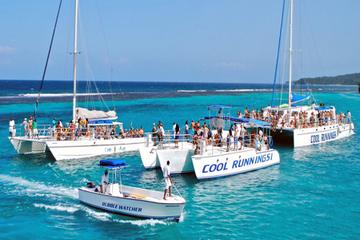 Catamaran Party Cruise and Dunn's River Falls Tour from Montego Bay...