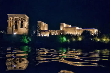 Aswan Philae Temple Sound and Light Show with Private Hotel or Port Transfers
