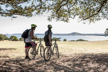 Excursão de bicicleta guiada na zona portuária de Auckland