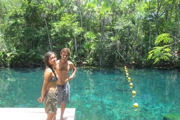 Excursão de Aventura 5 Cenotes Parque Tankah partindo de Tulum