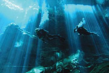 Inmersión certificada con 2 bombonas en cenote en Tulum