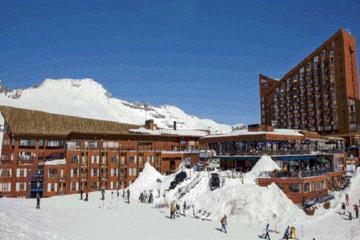 Viagem diurna a Valle Nevado saindo...