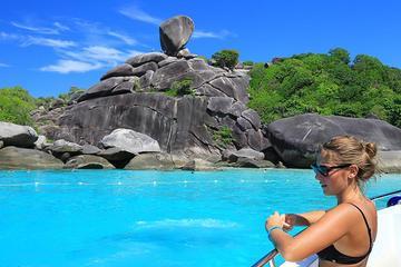 Excursion d'une journée complète à l'île Similan en hors-bord au...