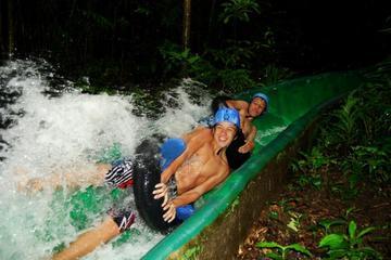 Excursión combinada: copas de los árboles, tobogán acuático, aguas...
