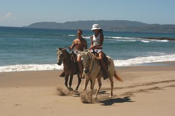 Paseo a caballo por la selva y en Playa Flamingo