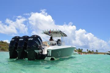 Privéspeedboot op Sint Maarten