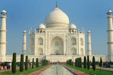 Sunrise View of Taj Mahal from Delhi