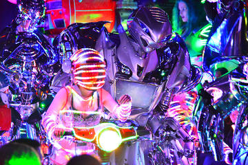 Tokyo Robot Cabaret Show Including Cherry Blossom Viewing Party with Local Food and Drinks
