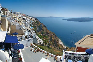 Santorini Highlights and Venetian Castles Full Day Small-Group Tour