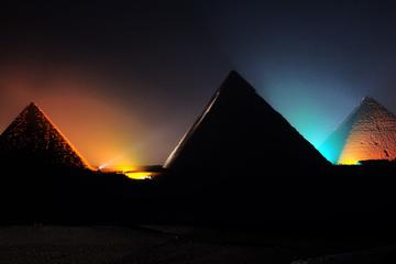 Giza Pyramids Evening Sound and Light Show from Cairo