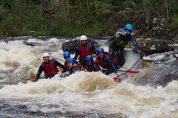 White Water Rafting Down The River Garry In The Scottish Highlands