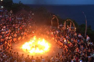 Private Uluwatu Temple and Kecak Fire Dance Evening Tour with Dinner
