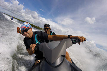 Half-Day Moreton Bay Marine Park Jet Ski Tour for Two from Caloundra...