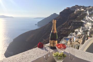 Experiência com champanhe ao pôr-do-sol de Santorini