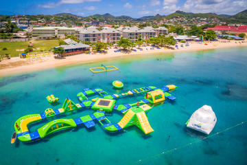 Splash Island Water Park in St Lucia