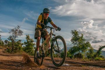 Sunset Mountain Biking Tour on Lake Atitlán