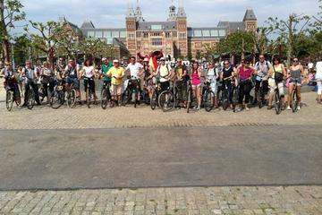 Visite historique en vélo en petit groupe à Amsterdam