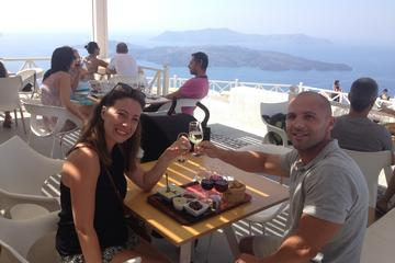 História privado de Santorini e degustação de vinho