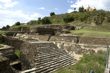 Great Pyramid of Cholula and City Tour on a Double-Decker Bus from Puebla
