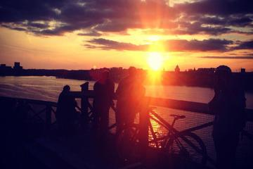 Visite en vélo de Stockholm au coucher du soleil durant l'été