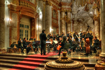 Konsert med Mozarts Requiem i Karlskirche i Wien