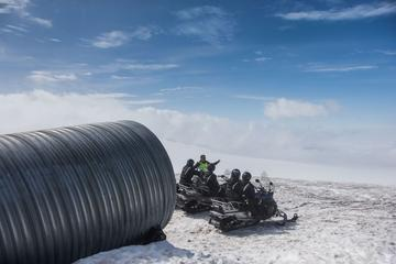 Snowmobile Into the Glacier from