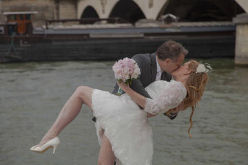 Paris Eiffel Tower Wedding Vows Renewal Ceremony with Photo Shoot