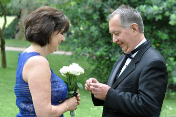 Paris Luxembourg Garden Wedding Vows Renewal Ceremony with Photo Shoot and Video Shoot