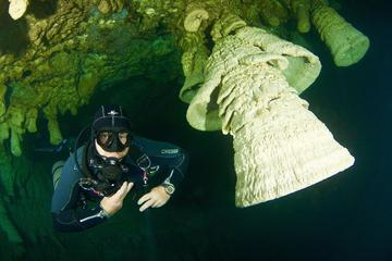 Diving in Cenote Zapote for Experienced Divers