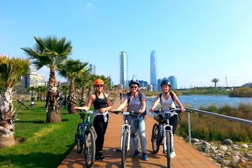 Excursão de bicicleta em Santiago incluindo o Centro Sky Costanera