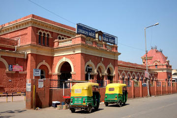 Arrival and departure assistance at Agra railway station , bus stand