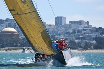 Aventura de navegação Copa América na Baía de São Francisco...