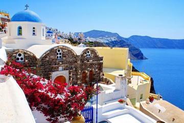 Excursão particular de meio dia guiada à Ilha de Santorini