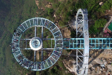 Private Transfer from Beijing to worlds largest glass viewing platform at Stone Forest Gorge