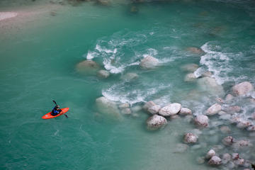 Guided Kayak Descent on Soca River