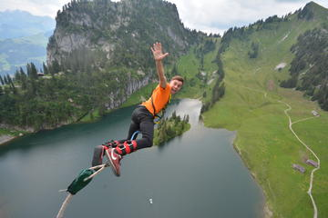 Bungy Jumping from Stockhorn Cable...