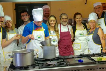 Small group Tuscan cooking class in a castle with optional transfer...